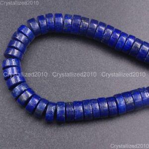 "Natural Lapis Lazuli Gemstone Heishi Spacer Loose Beads 3mm x 6mm 8mm 10mm 15.5"""