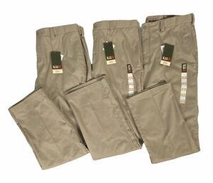 Lot of 3 5.11 Tactical Covert Khaki Poly Cotton Pant 2.0 Teflon Fabric 40x34 NWT