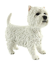 More details for leonardo collection west highland terrier figure, stone, white, 10 x 4 x 14 cm