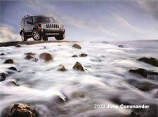 2009 09 Jeep Commander  Original Sales  brochure MINT