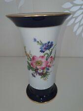 Kaiser Porzellan Vase Echt Scharffeuer Kobalt, Höhe 20 cm