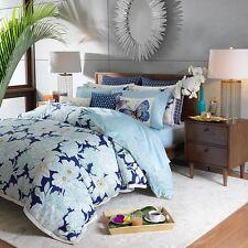 """Sky Gardenia Flutter Cotton Decorative Pillow 14"""" x 18"""" Bedding Retail $115 B591"""