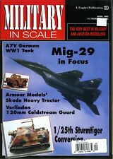 Military In Scale Magazine April 1993 Mig-29 in Focus, A7V German WW1 Tank