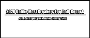 2020 Unlike Most Breakers Football Repack only $10 free shipping