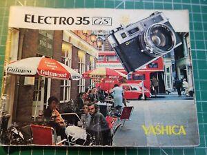 GENUINE YASHICA INSTRUCTION MANUAL FOR ELECTRO 35 GS FILM CAMERA