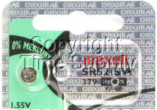 Maxell 379 SR521SW SR521 V379 SR63 JA Watch Battery 0% MERCURY ( 1 PC )