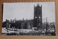 Postcard  Manchester Cathedral Real Photo Posted 1950's