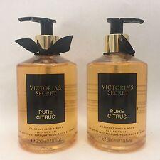 2 VICTORIA'S SECRET PURO AGRUMI FRAGRANTE mano & corpo detergente gel 10 fl.oz