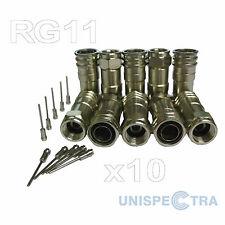 """10 X F PLUG 0.476 """"Hex Crimps per wf165, RG11, qf165 CAVI COASSIALI"""