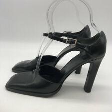 Gucci Black Square Toe Heels Size 7.5B