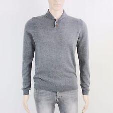 TopMan Mens Size S Lightweight Grey Knit Pullover Jumper