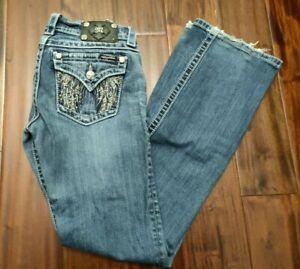 Miss Me Bootcut Jeans Women's 27 Waist 32 Inseam JP5616B