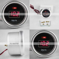 "2"" 52mm 12V Red Digital Led Electronic Volt Gauge Meter for Car Truck Universal"