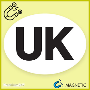 MAGNETIC UK Car Sticker Oval Euro Car Van Lorry UK REMOVEABLE Plate Sign Europe