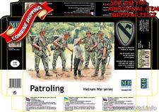 Master Box 3599 Patroling, Vietnam War Series - 5 Figure Set plastic kit 1/35