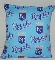 Royals Pillow Kansas City Royals MLB Pillow HANDMADE Baseball Pillow Made In USA