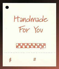 50 HANG TAGS HANDMADE CRAFTS PRICE PERFORATED COUNTRY~FREE SHIPPING