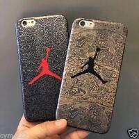 New Housse Etui Coque Souple iphone 6 6S 7+ Plus Motif Jordan Dunk Basket Sport