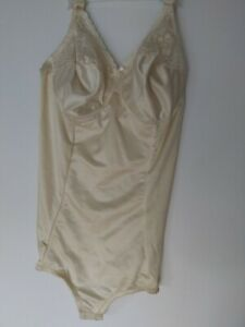 BODYBRIEFER SHAPER 44C SATIN BEIGE. USED OUNCE
