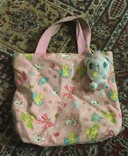 Sanrio Jewelpet purse tote bag w zipper top  includes jewel pet teddy plush