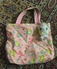 Sanrio Jewelpet purse tote bag w zipper top  includes jewel pet teddy plush