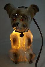 50iger Jahre Rauchverzehrer AEROZON Porzellan Terrier Dog Hund Lampe