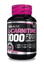 BIOTECH USA L-CARNITINE 1000mg / 30tabs. Strong Fat Burner Weight Loss Slimming