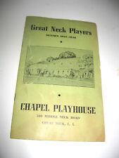 Chapel Playhouse Great Neck Players 1937-38 Season