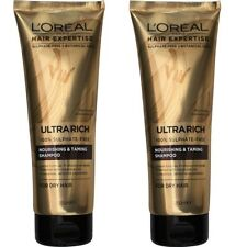 2 x LOREAL 250mL HAIR EXPERTISE ULTRA RICH SHAMPOO NOURISHING & TAMING Brand New