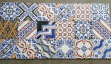 TILES JOBLOT 30: Colourful patterned Spanish porcelain wall & floor tiles 15m2