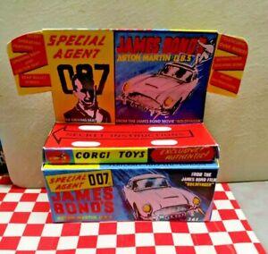 Corgi Toys 261 Aston Martin DB5 James Bond EMPTY REPRO Box+Insert,(1/43 s/car)