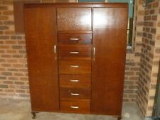 Antique Wooden Wardrobe. Draws in the middle, cupboard space both sides of draws