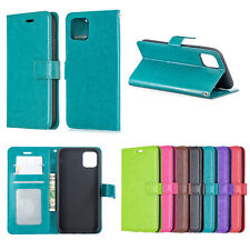 For iPhone 11 Samsung A10S Flip Stand Card Slot Leather Wallet + TPU Case Cover