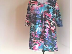 New SIZE 26/28 jersey tunic top lovely colours