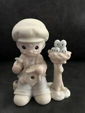"""Precious Moments Pm921 """"Only Love Can Make a Home� man making birdhouse 1992"""