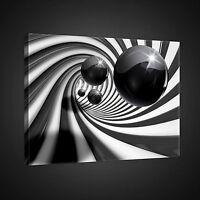 CANVAS Wandbild Bilder Leinwandbild Abstrakt Tunnel Kugeln 3D Wohnzimmer