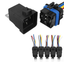 5x 5Pin Automotive Car Integrated Relay Switch Socket Holder Waterproof 12VDC