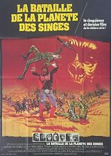 """""""BATTLE FOR THE PLANET OF THE APES"""" RARE 1973 ORIG FRENCH MOVIE POSTER 47x63in"""
