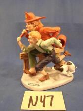 N47 Vintage Norman Rockwell Danbury Mint Porcelain Figurines The Alarm