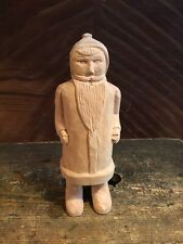 FOLK ART Hand Carved Wooden Primitive SANTA CLAUS ~ Signed P.L. ~ Dated 2 - 1995
