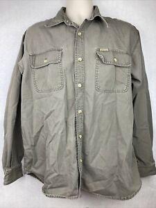 Vintage 90's Columbia Green Cotton Button-up Jacket Size L