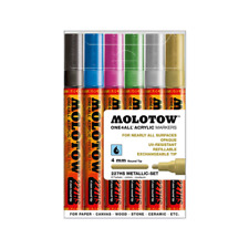 Molotow ONE4ALL 227HS Metallic- Set  (4mm) Acrylic pump Paint art markers