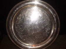 """VINTAGE WILCOX INTERNATIONAL SILVER CO. """"ASHLEY""""  # 7071 ROUND TRAY  13 1/4 IN."""