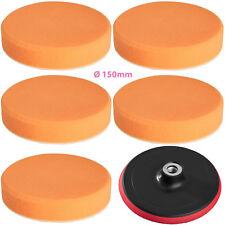 5 éponges de polissage 150mm mi-souple + disque de rotation pour machine à poli