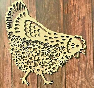 Chicken Hen Wooden Wall Art Chicken Hen Picture Farm Animal Art Farmyard Art