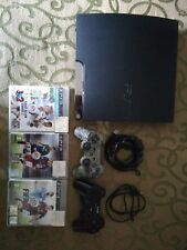 Sony Playstation 3 PS3 Console Slim 120 Gb con joypad e giochi