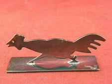 Repose Couteau Animalier en Argent Plaqué Yorel France Silver Silber Coq