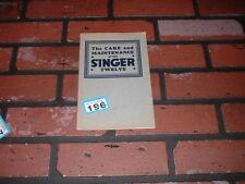 SINGER TWELVE OWNERS HANDBOOK / MAINTENANCE MANUAL