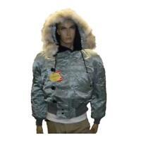 Corinth N2B Flight Parka Coyote Fur Hood Silver NWT Real Fur Lined Flight Jacket