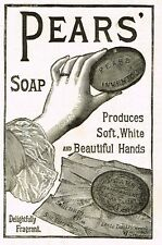 """Pears Brand Soap"""" - """"THE HAND"""" Antique Advertsing From THE GRAPHIC -1887"""